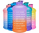 Venture Pal Motivational Water Bottle with Time Marker - 1 Gallon/ 128 Oz Reusable Water Jug with...