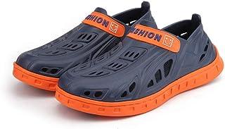 Yowablo Pantoufles Hommes Summer Flats Sandales de Plage Tongs Mer Respirant Trou Chaussures