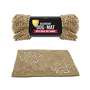 Tuff Pupper Dog Doormat | Ultra Absorbent | Durable for Dogs of All Breeds | Quick Drying Chenille Fabric | Designed for Indoor and Outdoor Use | Machine Washable