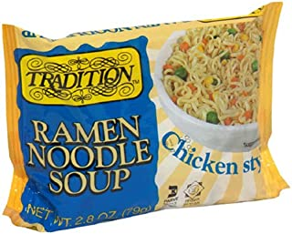 Tradition Ramen Noodle Soup with Chicken, 2.8 Ounce Packages (Pack of 24)