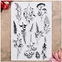 Silicone Stamps for Craft DIY Scrapbooking Embossing Photo Albums Paper Notebook Card Making Arts Crafts Supplies Chaoxiner Tree Background DIY Clear Stamp for Card Making