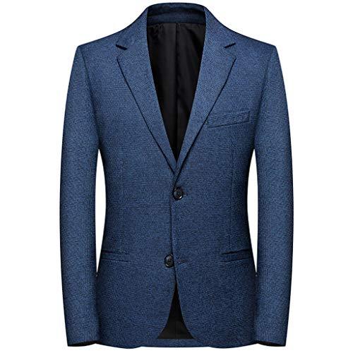 Adlforever Herren Anzug Sakko Casual Blazer Zwei Knopf Einreihig Freizeit SuitBusiness Hochzeit Jacke Revers elegant Herrenanzug Mantel Männer Outwear M-4XL