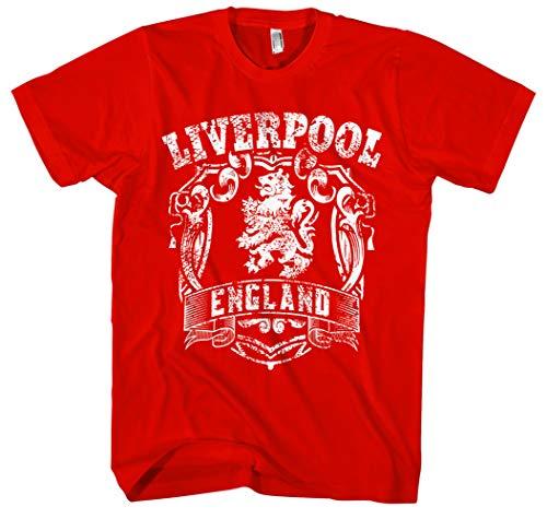 Liverpool Männer und Herren T-Shirt | Stadt Sport Fussball Trikot Ultras ||| M1 FB (L, Rot)