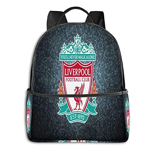 Live-Rpool Fc Logo - Mochila para hombre y niña, mochila de viaje para portátil, mochila multifuncional, impresión en D, resistente al agua, resistente al agua