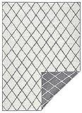 bougari Alfombra Reversible para Interior y Exterior, Color Gris y Crema, 160 x 230 cm