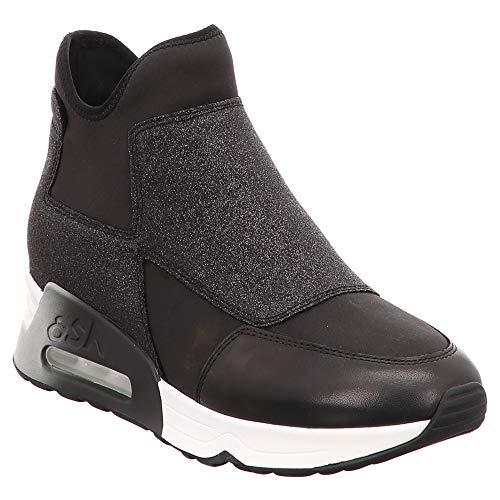 Ash | Lazer Glit | Stiefelette | Boot - Schwarz | Black, Farbe:Schwarz, Größe:37