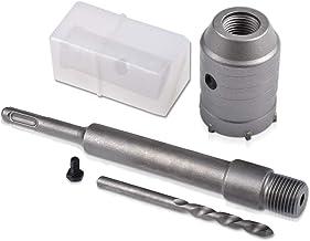 KATUR 65mm SDS Plus Agujero de vástago Cortador de sierra Broca de pared de piedra de cemento y hormigón para ladrillo Piedra de cemento y hormigón (diámetro de 65 mm)