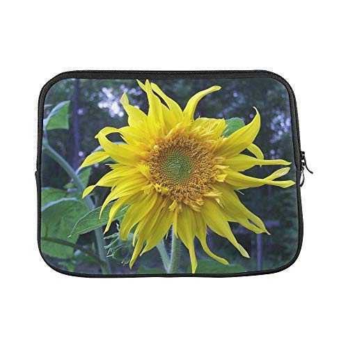 Design Custom Sunflower Flower Yellow Summer Nature Floral Sleeve Soft Laptop Case Bag Pouch Skin for MacBook Air 11'(2 Sides)