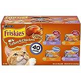 Purina Friskies Gravy Wet Cat Food Variety Pack, Prime Filets & Shreds Turkey & Chicken Favorites - (40) 5.5 oz. Cans