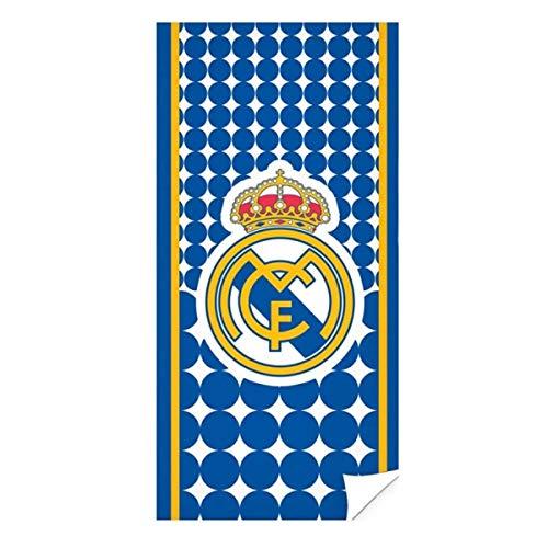 Real Madrid RM171155 - Toallas, Azul, 70x140 cm