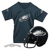 Franklin Sports Philadelphia Eagles Kids Football Helmet and Jersey Set - NFL Youth Football Uniform Costume - Helmet, Jersey, Chinstrap - Youth M