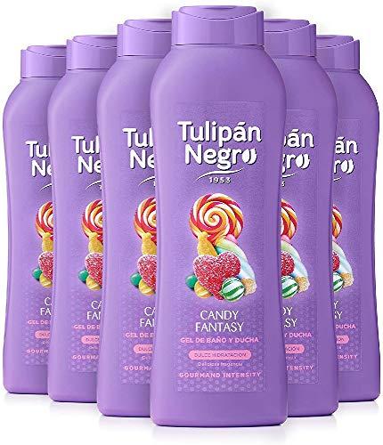 Tulipán Negro Gel de Baño Candy Fantasy, 6 x 720 Mililitros