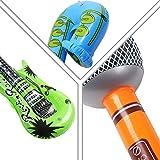 Yojoloin 12 STÜCKE Inflatables Gitarre Saxophon Mikrofon Luftballons Musikinstrumente Zubehör Für Party Supplies Party Favors Ballons Zufällige Farbe (12 STÜCKE) - 6