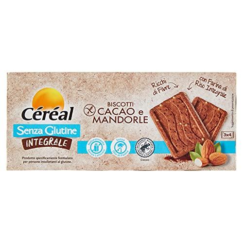 Céréal Biscotti Senza Glutine, Senza Lattosio, Dolci Integrali con Cacao e Mandorle, con farina di...
