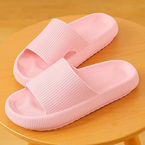 QAZW Sandalia De Diapositivas Unisex Hombres Mujeres Zapatillas De Verano Zapatos De Casa para Parejas Adultas Interior Al Aire Libre,Pink-7/8