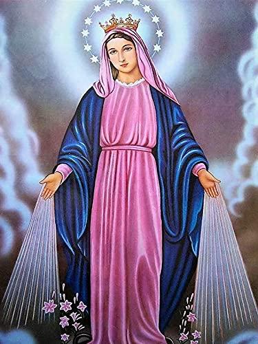 DIY 5D Kits de pintura de diamante para adultos Jesús religión Virgen María punto de cruz bordado Rhinestone cristianismo religioso icono arte