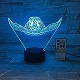 Animal Tortue Lumière Nouveauté Acrylique Éclairage Cadeau Tactile Télécommande Nuit Lumière Enfant Jouet Lancer Bateau