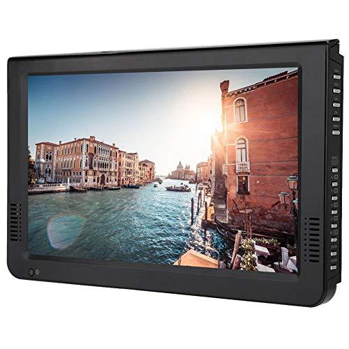 Televisor LED TFT portátil de 10.1 Pulgadas, HD 1080P 16: 9 TV analógica Digital ATV Color Car Television 1080P Reproductor de Video, Soporte MKV/MOV/AVI/WMV/MP4/FLV/MPEG1-4/MP3/U Disk (EU)