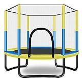 Tesysyet Trampolin, Trampolin Garten, Fechten Kinder, Matten, Sport Im Freien, Zu Hause Spielzeug, Einfache Installation 1.5M * 1.3M (Color : Yellow)