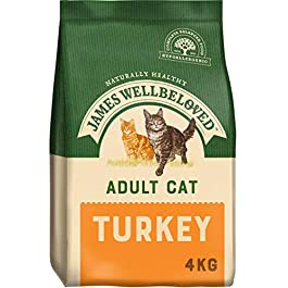 James Wellbeloved Complete Dry Adult Cat Food Turkey and Rice
