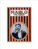 Wee Blue Coo Marlo The Great Magician Vintage Werbung schwarz gerahmter Kunstdruck Bild B12X2527
