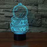 3d night light illusion led lamp Drum Set Building For Kid Gift Touch