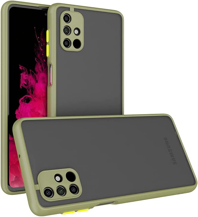 Case for Samsung Galaxy M51 Case [Protect from Fingerprint/Shock/Scratch/Slip] Shockproof Hard PC Back with Soft TPU Bumper Slim Protective Phone Cover for Samsung Galaxy M51 (Green)