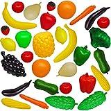 alles-meine.de GmbH 33 TLG. Set - Kaufmannsladen & Küche - großes XL - Obst & Gemüse - Zubehör / Kunststoff - Plastik - Küchenspielzeug Kaufladen - Supermarkt - Spielzeug - Obst ..