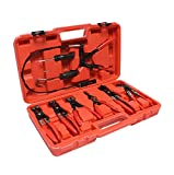ABN Hose Clamp Plier 9-Piece Set – Universal Automotive Fuel Hose, Oil Hose, Water Hose Removal Pliers Remover Tool Kit