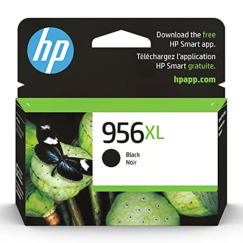 Original HP 956XL Black High-yield Ink Cartridge | Works with HP OfficeJet Pro 7730, 7740, 8216, 8720, 8730, 8740 Series | Eligible for Instant Ink | L0R39AN