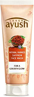 Ayush Natural Fairness Saffron Face Wash, 80 grams, India