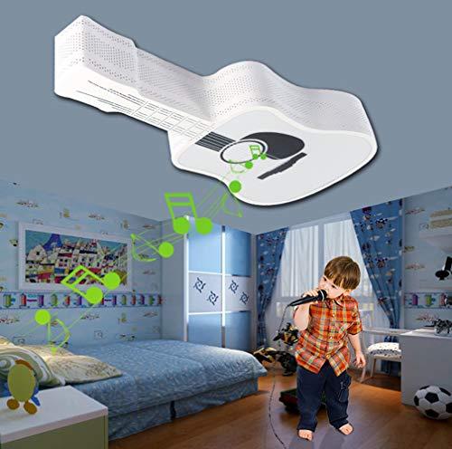 HIL Intelligente draadloos, Bluetooth, audio, gitaar, LED, plafondlamp, muziekkamer, tweekleurig, creatief licht voor kinderen