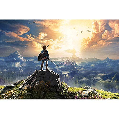 The Legend of Zelda Breath Wild Puzzle in legno 1000 pezzi Decompression Puzzle per bambini Festa di compleanno Regalo-009 1000 compresse_