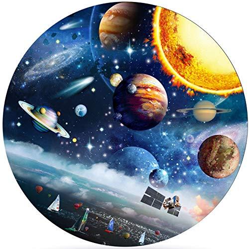 Redondo Puzzle,Puzzle 1000 piezas,1000 Piezas Rompecabezas Redondo,Puzzle Adultos para Aliviar el Estrés,Rompecabezas Redondo Intelectual Desafío para Niños Adultos(planeta)