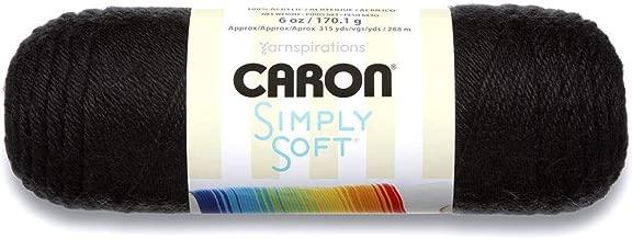 Caron Simply Soft Yarn Black