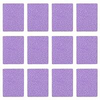 PIXNOR 40本ミニネイルバッファーファイル両面スポンジネイルポリッシングファイルグリットサンディングネイルファイルネイルマニキュアペディキュアポリッシャー指の爪足指の爪磨き(紫)