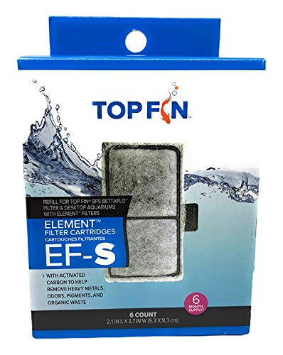 Top Fin EF-S Element Filter Cartridges (6 Count) for Fish Tank