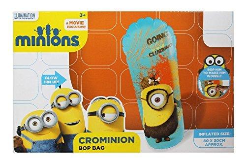 Nuovo Minion gonfiabile Bop Bag King Bop e crominion-Uno in dotazione