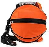 Super-Bab borsa sportiva da spalla, in nylon, per palla da calcio, pallavolo, basket , Ora...