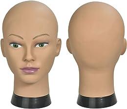 ErSiMan Tête de mannequin pour femme pour perruque