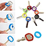 Bluelover 32Pcs Colores Brillantes Hueco De Silicona Key Cap Topper Keyring Con Bly Braille