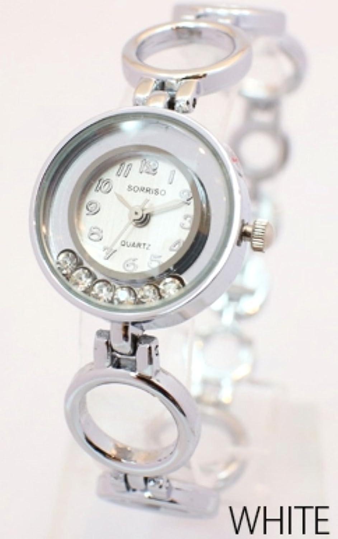 ジュエリー仕様の優れモノ!おしゃれなレディースウォッチ [ SORISSO 461L1 ] 誕生日プレゼント 腕時計 (ホワイト)
