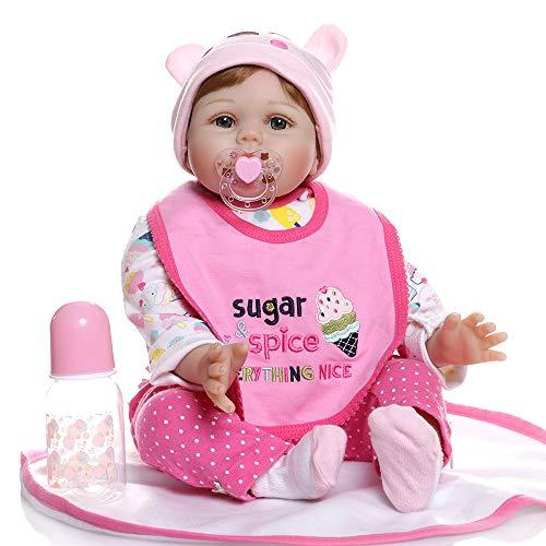 Toys Reborn Baby Dolls RB083 100/% Handmade 15.7 40cm Realistic Baby Dolls Full Vinyl Silicone Lifelike Newborn Doll Girls Kids Gifts EN71 CERT Minidiva