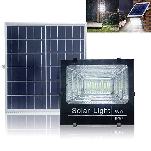 UISEBRT 60W LED Solarleuchte mit Fernbedienung Wasserdicht - 40 LEDs Solar-Flutlicht Sicherheitsleuchte Solarlampe Außenbeleuchtung für Hof, Garten, Terrasse