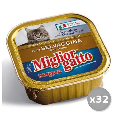 Set 32 MIGLIOR GATTO 100 Gr. Umido Selvaginale infecties kattenvoer