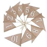 10 Leinwand Fahnen Rustikal Sackleinen Tabellenzahlen Jahrgang Rustikalen Hochzeitsdeko