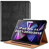 ProCase Funda Folio para iPad Pro 11' 2021 Modelo A2377 A2459 A2301 A2460, Carcasa Tipo Libro para iPad Pro 11' 3.ª Generación 2021 –Negro
