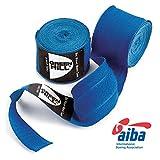 GREEN HILL Vendajes DE Mano Boxeo ELÁSTICAS Kick Boxing Venda ELÁSTICA Negro Rojo Azul Aprobado AIBA HOMOLOGADO (Azul, 3.5 m)