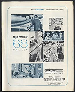 Concord Electronics Tape Recorder Catalog folder 1968