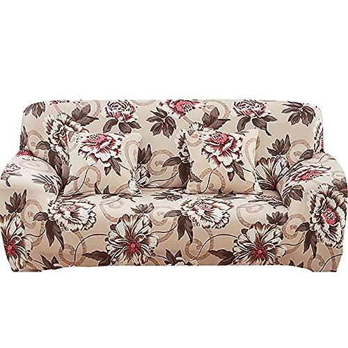 Funda de sofá elástica Estampada para Sala de Estar, Funda de sofá de Esquina combinada Moderna, Funda de sofá, Funda Protectora para Silla A10, 2 plazas